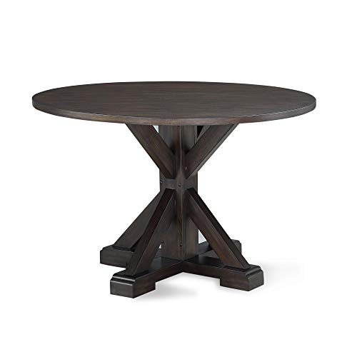 Dorel Living DA8135T Lanley Round, Rustic Brown Dining Table, ()