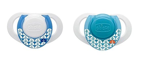 - Chicco 2 Physio Orthodontic Latex Soother with Ring 0% BPA Blue 0m+