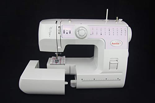 SEWING MACHINE AUSTIN AS700L LED LIGHTING TWIN NEEDLE SEWING - 2 YEAR WARRANTY - ACCESSORY KIT - DUST COVER EASY CHANGE TO FREE ARM SEWING