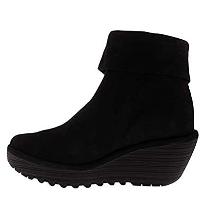 Womens Fly London Yemi Cupido Leather Work Winter Wedge Heel Ankle Boots 2