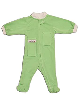 Bitta Kidda Baby Soother Baby Creeper Zipper Sleeper, Baby Pajamas with Footies + Lovey - Green 6 Months