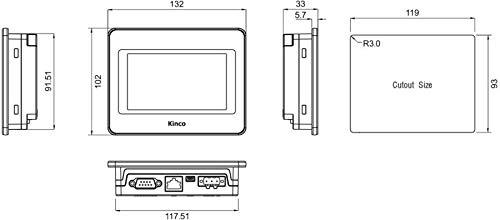"Kinco Automation MT4230T HMI Touchscreen, 4.3"""