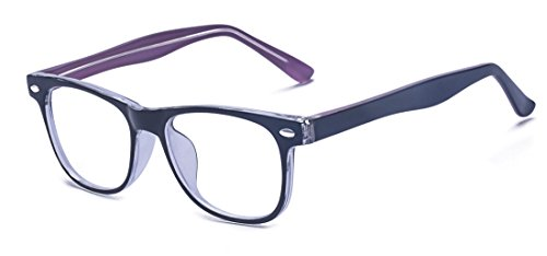 Outray Kids Computer TV Anti Blue Light Glasses for Boys and Gilrs Anti Eyestrain 2185c4 Purple]()