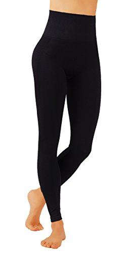 Pro Fit Yoga Pants Dry-Fit Compression Workout Leggings (S/M USA 2-6, (Seamless Capri Leggings)