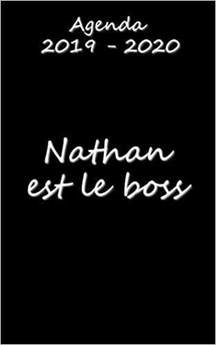 Agenda 2019 - 2020 Nathan est le boss (French ... - Amazon.com