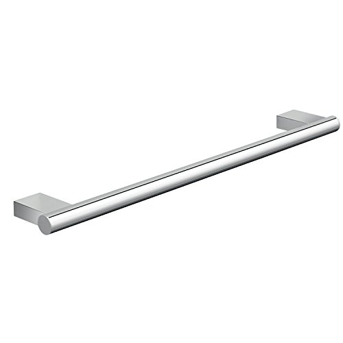 Gedy Canarie Luxury Wall Mounted Round Towel Bar, Chrome, 18''