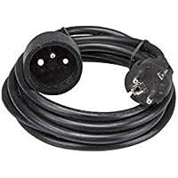 Silver Electronics 9222 Prolongador Manguera, Negro, 2 m