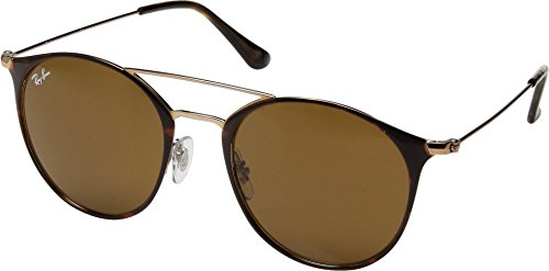 Ray-Ban Steel Unisex Round Sunglasses, Copper on Top Havana, 52 mm by Ray-Ban
