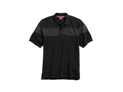 Harley-Davidson Men's Chest Stripe Polo Shirt, 96495-17VM