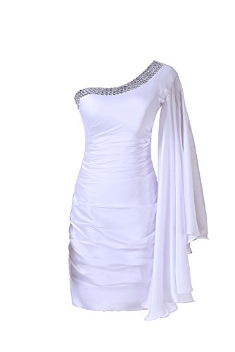 Sunvary Chiffon Short Cocktail Gown Mother of Bride Dress Long Sleeve