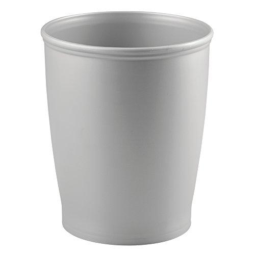 InterDesign Kent - Round Trash Can for Bathroom, Kitchen or