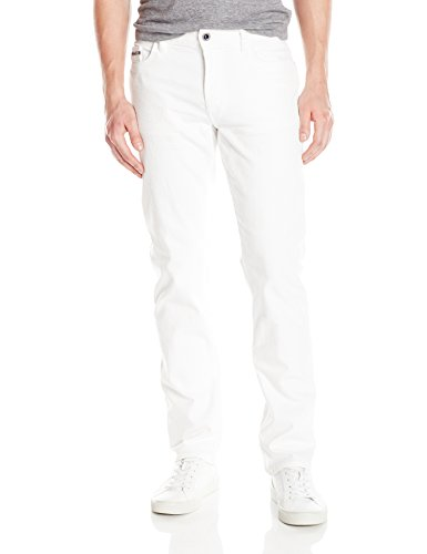 (Calvin Klein Men's Slim Straight Jeans, White Wash, 30x32)
