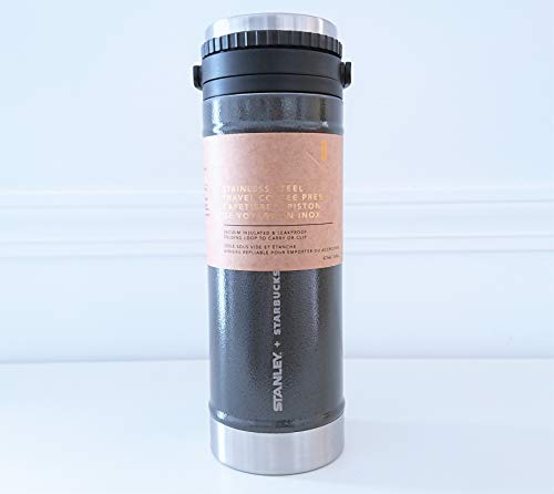 Kelly Jewels Stanley + Starbucks Stainless Steel Travel Coffee Press, 16 fl oz Grey