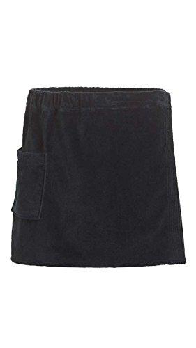 Goza Towels Men's Spa Bath Shower Terry Velour Cotton Towel Wrap (Black, One Size) ()