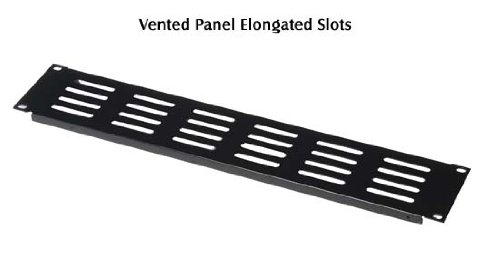 2u Slotted Panel (Gator Cases 2U Slotted Flanged Panel with Elongated Vents (Black,)