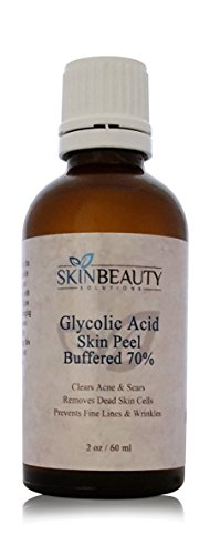 (2 oz/60 ml) GLYCOLIC Acid 70% BUFFERED -Skin Chemical Peel - - Alpha Hydroxy (AHA) For Acne, Oily Skin, Wrinkles, Blackheads, Large Pores & More (from Skin Beauty Solutions)