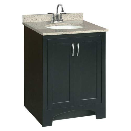 Design House 541235 Ventura 2 Door Ready-To-Assemble Vanity, Espresso, 24-Inch by 21-Inch from Design House