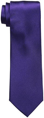 Van Heusen Men's Poly Woven Solid Flex Tie, Purple, One Size ()
