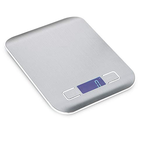 Sammid Digital Scale 5kg/1g Multifunction Balance Cooking Scales with LCD Backlight Display Slim Platform Design High Accuracy Weight Scale Small Electronic Digital Pocket Kitchen Food Scales