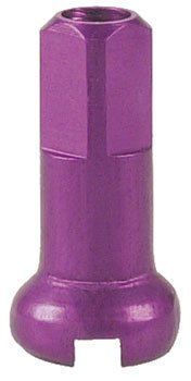 DT Swiss 14G Alloy Nipple Spoke (Box of 100), Purple, 2mm