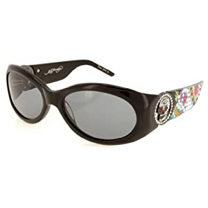 Ed Hardy EHS-032 King Sunglasses - Black/Gray