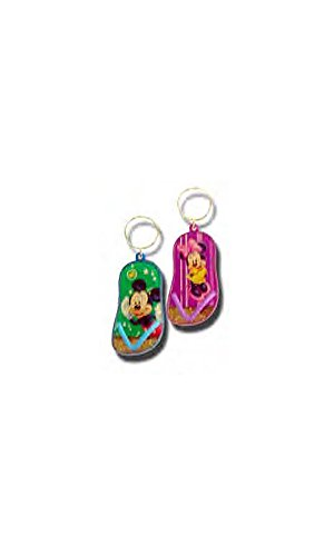 Disney Mickey and Minnie Mouse Sandal Key Chain Set of 2