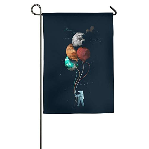 Astronauts and Star Balloons Floral Garden Yard Flag Banner for Outside House Flower- Best for Party Yard and Home Outdoor Decor]()