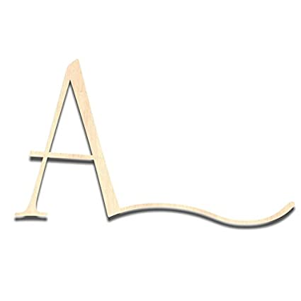 Back40life Laser Cut Storyteller Wood Monogram Letter 10 Inch Unfinished A Swash