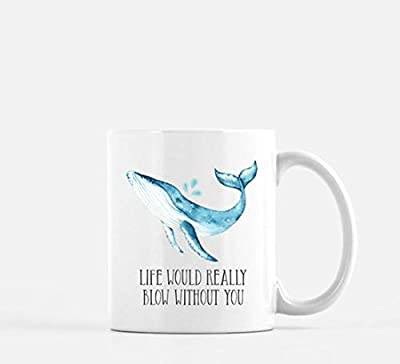 OttoRiven101 - Coffee Mug Whale Mug love Punny Mug Pun Oh Whale Funny Coffee Mug Punny Coffee Mug Valentine Mug Anniversary Coffee Mug, 11oz Ceramic Coffee Cup, High Gloss