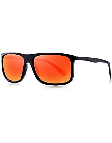 7e05c4e0a1e24 OLIEYE Polarized Square Sunglasses for Men Sports Aluminum Legs O8132