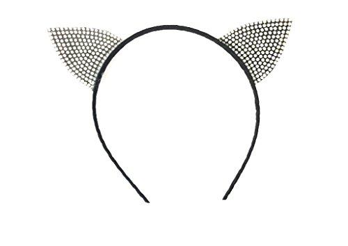 MeeThan Crystal Rhinestone Metal Cat Ear Headband :H10 (Octonauts Top)