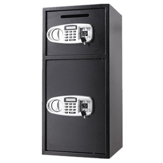 TOTOOL Double Door Security Safe Box Digital Depository Safe with 2 Separate Safes Drop Safe for Cash, Gun, Jewelry Home Secure by TOTOOL