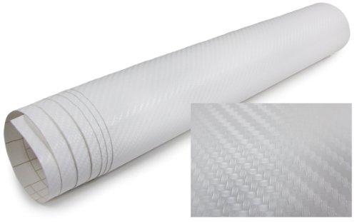 Carparts-Online 20355 3D Carbon Folie selbstklebend 30cm *1.524 Meter weiss
