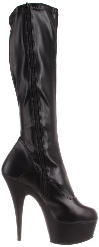 Pleaser Women's Delight-2000 Knee-High Boot Black L1HZRViy
