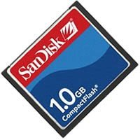 Sandisk Model - SanDisk SDCFB-1024-A10 1GB CF Type 1 Card (Retail Package)