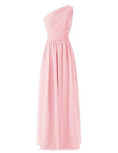 Shoulder Kleider Formelle Damen Fanciest Party Brautjungferkleider Pink Wedding One Lang Gray ERPRq7w