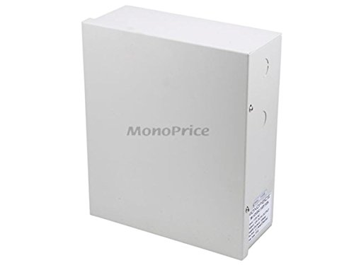 Monoprice 16 Channel CCTV Camera Power Supply 12VDC 10Amps W//  LED Indicator