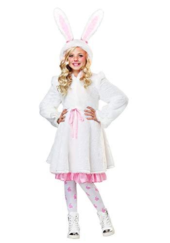 Girl's Fuzzy White Rabbit Costume X-Large]()