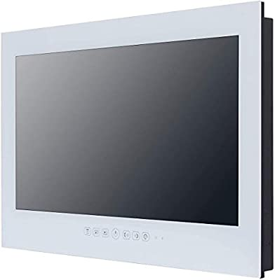 Haocrown Smart TV LED para baño IP66 Impermeable Sistema Android Televisión con Pantalla táctil y Wi-Fi Incorporado (32 Pulgadas, Blanco): Amazon.es: Electrónica