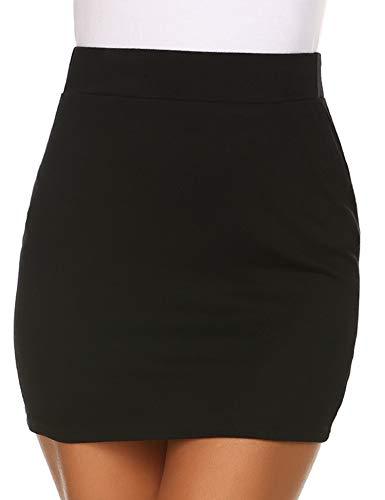 (Zeagoo Women's High Waist Bodycon Mini Pencil Skirt )