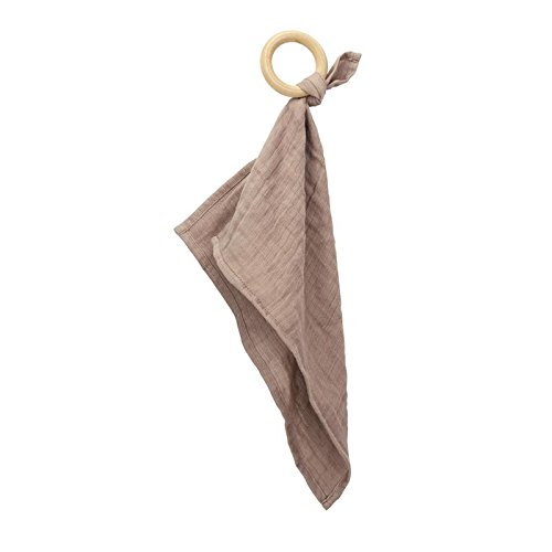 Oliver & Rain Wooden Teether - Organic Baby Taupe Teething Ring