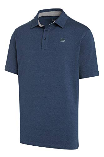 Three Sixty Six Golf Shirts for Men - Dry Fit Cotton Polo Shirt - Includes 20 Golfing Tees Navy Blue