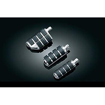 Large 1 Pair Gloss Black Kuryakyn 7566 Motorcycle Footpegs: Premium Trident ISO Pegs without Adapters