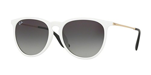 Ray-Ban Women's RB4171F Erika Sunglasses White / Grey Gradient - Bans White Ray