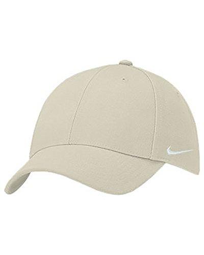 Nike Stock Mens (Nike Men's Stock Swoosh Flex 3 Hat-Cap (Large/X-Large, Khaki/White))