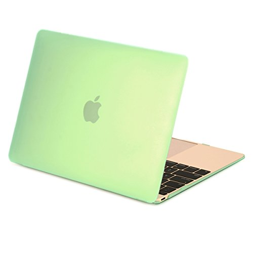 Unik Case-Retina 12 Inch Frosted Coating Rubberized Hard Case for Macbook 12 with Retina Display A1534 Shell Cover(2015 Newest Version)-Green