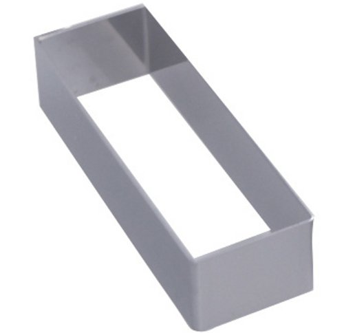 DeBuyer Stainless Steel Rectangular Pastry Ring (1 Each) (4'' x 1'' x 1-1/8'' High)