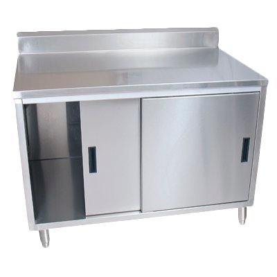 (BK Resources Stainless Steel Work Table w/Cabinet Base 48