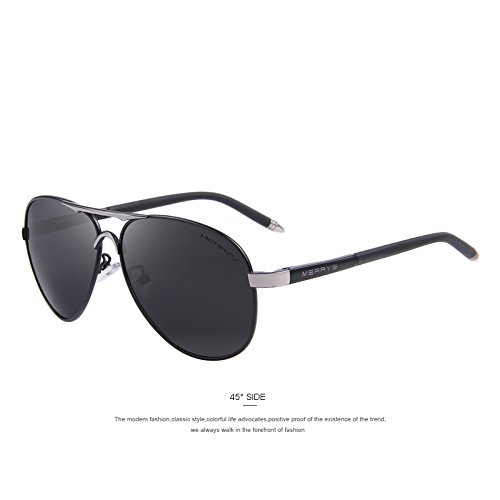 de Gold Black tonos Gafas de lujo clásico TIANLIANG04 C01 C03 de polarizadas conducción marca gafas UV400 hombres aluminio HD EBPFqw4