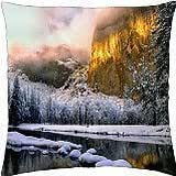 """Winter's Touch - Throw Pillow Cover Case (18"""" x 18"""")"""